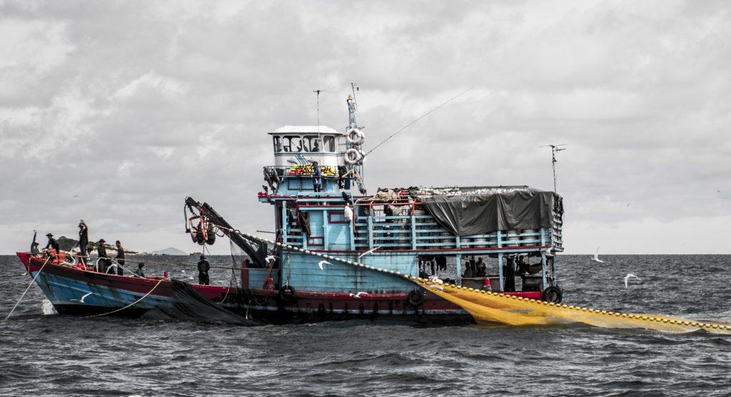 human rights haggadah: hard labor slavery Thai fishing boat