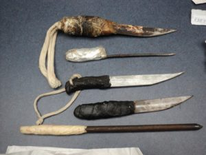 Weapons confiscated from inmates at an Alabama prison