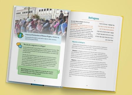 Human Rights Haggadah refugees page